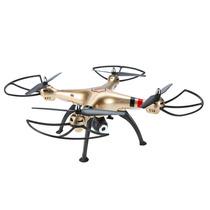 Drone Syma X8hw Wifi Fpv Rc Dourado 4ch 6eixos Câmera