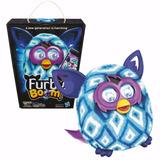 Furby Boom Branco Com Azul Pelucia Original Português