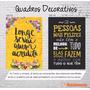 Quadro Divertido Frases Motivacionais Engraçada Tela 30x22