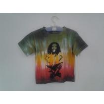 Camisetinha Camisa Bebê Bob Marley Reggae Até 2 Anos