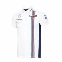 Nova Pólo Oficial Williams Martini Racing F1 2016 Branca