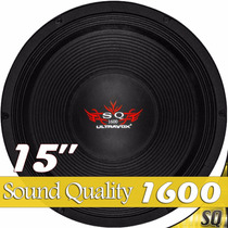 Alto Falante Woofer 15 Ultravox Sound Quality 1600 Rms 4ohms