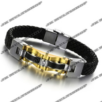 Pulseira Algema Bracelete Masculino Titanium Sedex Grátis