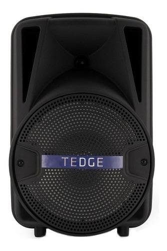 Caixa De Som Tedge 8  Portátil Com Bluetooth Preta