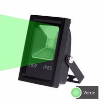 Refletor Holofote Led 10w Verde Bivolt Ótima Qualidade 2 Pçs