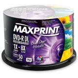 50 Dvd +r Printable Maxprint Dual Layer 8.5gb Umedisc Xgd3