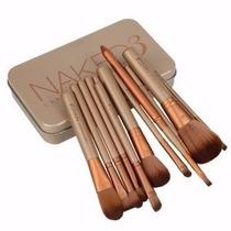 Kit 12 Pincel Maquiagem Naked 3 Brush Com Estojo Em Oferta!!