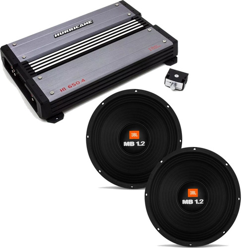 Woofers 2 Jbl Selenium 12 Pol 600w Rms Amplificador 2600w