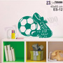 Adesivo Papel Parede Infantil Esporte Futebol Bola Chuteira