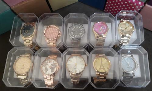 96c46d46644 Kit 10 Relógios Feminino Atacado Revenda - Frete Gratis