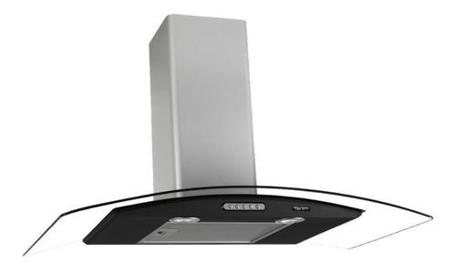 Exaustor Depurador De Cozinha Terim Vidro Curvo Aço Inoxidável De Parede 90cm X 5cm X 45cm Inox/preto 220v