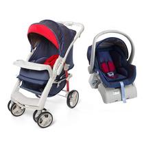 Carrinho De Bebê Optimus E Bebê Conforto Cocoon - Jeans G