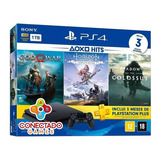 Console Ps4 Playstation 4 Hits Slim 1tb 3 Jogos Físico + Psn