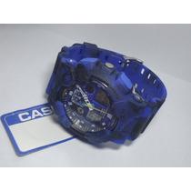 Relogio Atlantis Gshock Camuflado Azul E Preto =casio Dw6900