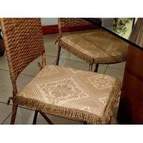 Assento Para Cadeira Lisboa 37x37cm - Marrom Bordart 368631