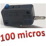 Micro De Botão Fliperama Arcade Microswitch 100 Peças