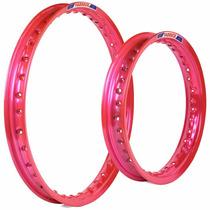 Par De Aro Colorido Para Moto Biz Ks Es + Pop 100 - Rosa