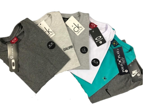 90e2cb423 Kit 10 Camisetas Camisas Masculina Atacado Baratas Blusa à venda em ...