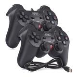 Kit 2 Controle Joystick Usb Ps3 Playstation 3 Pc Dualshock