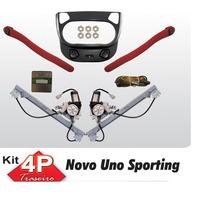 Kit Vidro Eletrico Uno Novo Sporting Traseiro Sensorizado