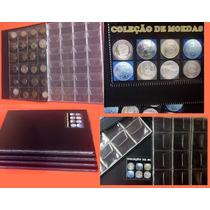 Álbum Personalizado C/ Espaço P/ 240 Moedas C/ Abas/seguro!