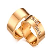 Par Aliança 8mm Banhada Ouro Noivado Casamento Com Zircônia