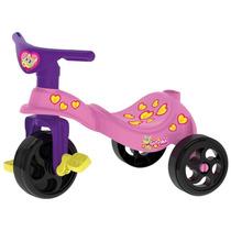 Triciclo Motoca Infantil Gatinha Pedal C/ Empurador Xalingo