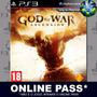 produto Online Pass - God Of War Ascension - Ps3 - Psn - Promoção !!