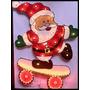 Papai Noel De Skate Pisca Enfeite Natal Decoração Natalino