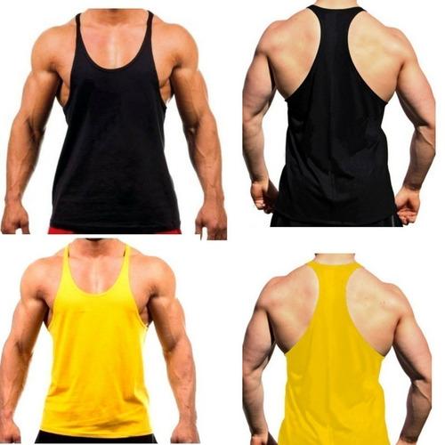 Kit 03 Camiseta Regata Super Cavada Masculina Academia Musc 45f679c1ec7