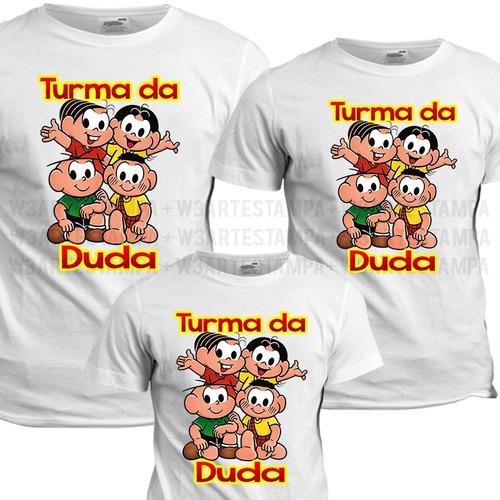 7a371c5c1 3 Camisas Personalizadas Turma Da Monica Magali Cebolinha à venda em ...