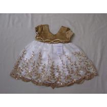 Vestido Infantil Festa/aniversário/casamento Paetês