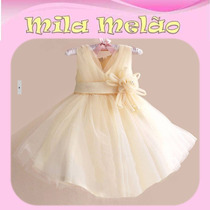 Vestido Infantil Menina Festa Luxo Importado Pronta Entrega