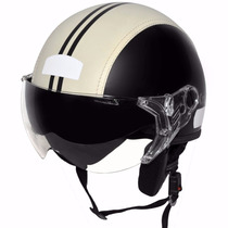 Capacete Aberto Kraft Semi Revest. Custom Harley Drag Shadow