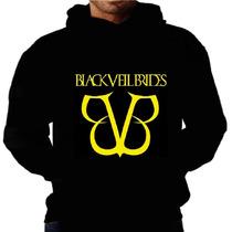 Blusa Moletom Black Veil Brides Capuz Bolso Banda Frio Rock