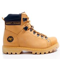 Bota Coturno West Coast Worker Amarela 5790 +brinde +nfs