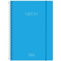 Caderno 1 Matéria 96 Folhas Neon Azul Tilibra