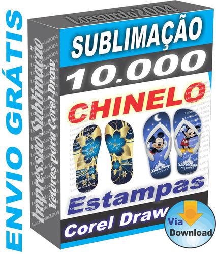 10 Mil Estampas Prontas P  Impressão Chinelo Download Grátis 6e2c5028d1a11