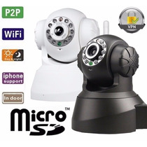 Câmera Ip Wireles S/ Fio Iphone E Android Grava Micro Sd
