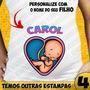 3 Camisas Gestante Grávida Bebe Espiando Camisetas Baby Look