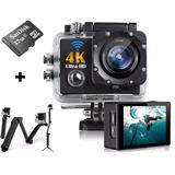 Action Camera Go Pro Wi-fi 4k 1080p Prova D'agua + 32g Bastã