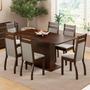Conjunto Sala De Jantar Versalhes Madesa Mesa Com 6 Cadeiras