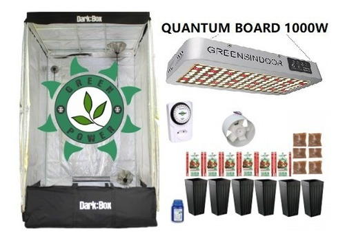 Kit Cultivo Indoor Estufa 120x120x200 Grow Completo Led1000w