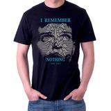 Camiseta I remember nothing Joy Division