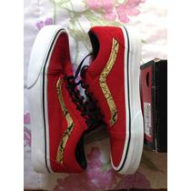 Tênis Vans Old Skool Snake Red/gold Cobra Original Unissex