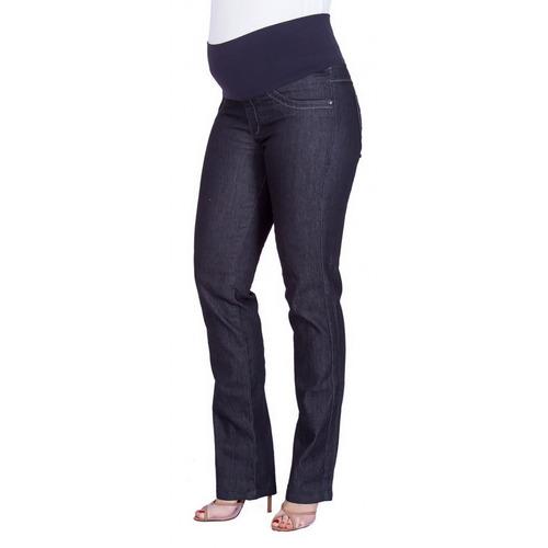 Calça Jeans Gestante Reta Monique