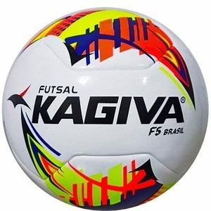 Bola De Futsal Kagiva F5 Brasil Pro+bomba Encher Bolas pneus 62fff427330a3
