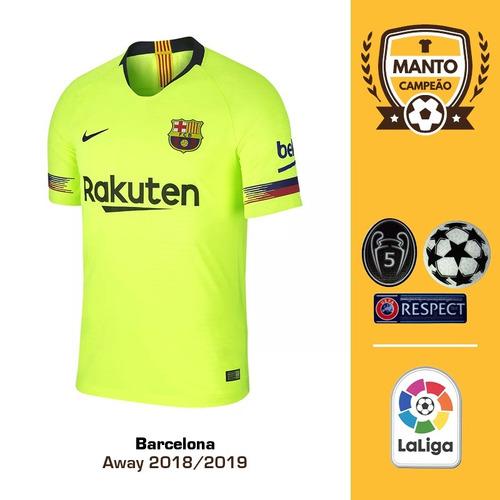 Camisa Barcelona 2018 2019 Away Uniforme 2 Messi Suárez 6c61ba79936bf
