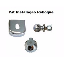 Kit Reboque Engate Bola Capa Tomada Cromado Universal