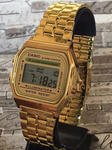 b9aab2a6d1c Atacado Kit 10 Relógios Casio Vintage Unisex Prata Dourado. Preço  R  249 9  Veja MercadoLibre